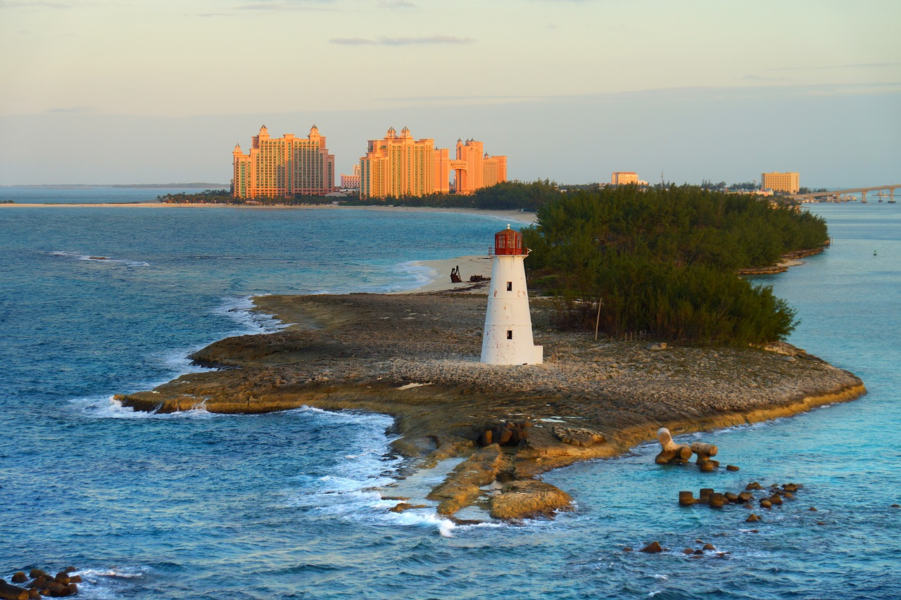 View of the Bahamas and Lighthouse