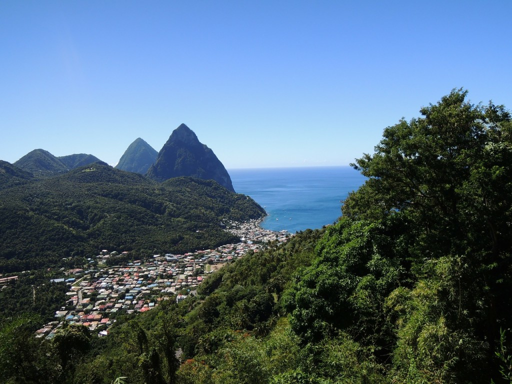 St Lucia Twin Pitons